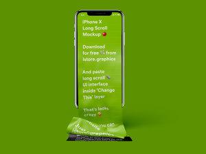 不一样的长滚动创意界面 iPhone X 样机 Free Long Scroll iPhone X Mockup插图4