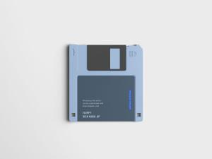 古董软盘外观设计样机模板 Floppy Disk Mockup插图3