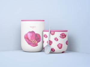 极简主义风食品储存罐样机模板 Minimal Jars with Spoon Mockup插图2