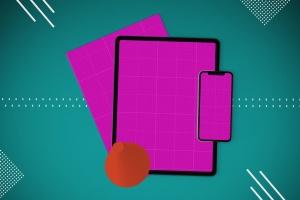 杂志印刷设计/杂志APP设计图预览样机样机 Abstract Magazine App Mouckup插图13