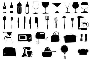 30+手绘厨房用具图案剪贴画素材合集v2 30+ Hand Drawn Kitchen Cliparts Ver. 2插图2