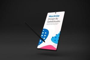 Note 10大屏手机屏幕预览样机模板 Dark Note 10 Mockup插图4