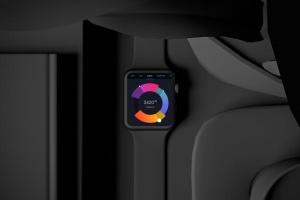时尚深色Apple智能手表样机模板 Dark Apple watch插图4