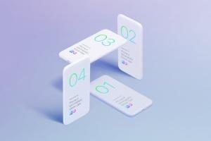 极简主义iPhone X样机模板 Phone X Minimalistic Mock-Ups插图8