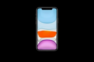 iPhone 11 Pro Max手机正面视图屏幕预览样机模板 iPhone 11 Pro Max Mockup插图3