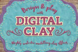 21种创意粘土手作图层样式 Digital Clay- Layer Styles & More插图1