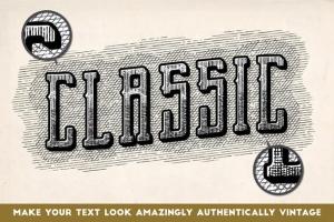 古典雕刻图案线条AI笔刷 Vintage Engraved Patterns插图4