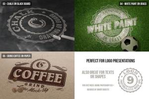 逼真凸版压花Logo徽标样机套装Vol.4 Photorealistic Logo Mock-Ups Vol.4插图3
