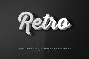 复古怀旧风格文本图层纹理v6 Vintage Text Effects Vol.6插图13