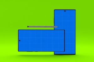 三星大屏手机Note 10屏幕预览样机模板 Note 10 Mockup插图13