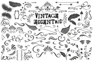 复古怪诞时尚设计矢量素材包 Vintage Eccentric Designers Toolkit插图6