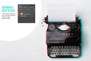 3D立体化浮雕照片处理效果PS动作 Quick 3D Anaglyph Effect插图3