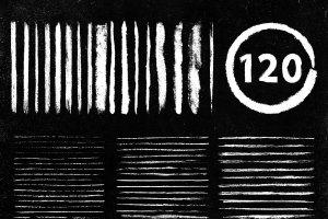 经典彩色黑板画粉笔AI笔刷 Megapack of chalks by Guerillacraft插图2