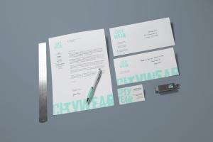 企业品牌VI设计办公文具样机模板v2 Corporate Branding / Identity Mock-up插图8