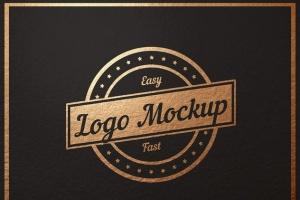 平面logo木板背景纹理样机 Logo Flat Mockup插图2