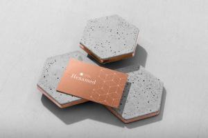 六边形图形设计品牌VI视觉设计效果图样机套件v1 Hexamed Branding Mockup插图5