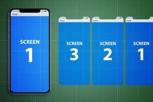 iPhone X应用程序演示设备样机V.1 Animated iPhone X MockUp V.1插图9