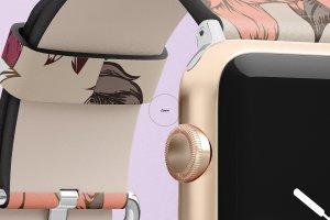 一流设计素材网下午茶:高品质的Apple Watch表带展示模型Mockup下载 1.27 GB[psd]插图11