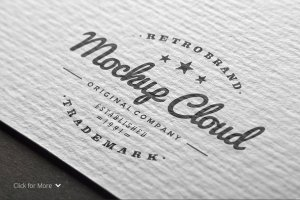 Logo设计纸张印刷展示样机 Logo Mock-Up Set插图3
