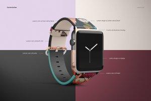 一流设计素材网下午茶:高品质的Apple Watch表带展示模型Mockup下载 1.27 GB[psd]插图4
