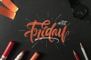 创意Procreate专用字体笔刷包下载插图(3)