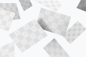 英国尺寸规格企业名片设计预览样机10 UK Business Cards Mockup 10插图4