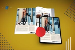 杂志印刷设计/杂志APP设计图预览样机样机 Abstract Magazine App Mouckup插图6