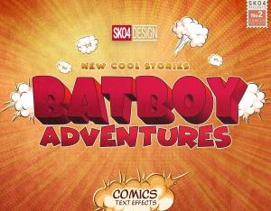 3D复古动漫卡通封面字体设计样式PSD图层样式 Comics Text Effects插图9