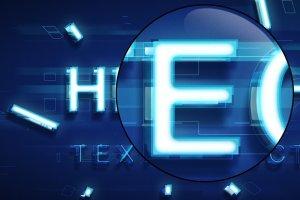 炫酷平滑3D高科技效果PS字体样式 TECHNOLOGY TEXT EFFECT插图5