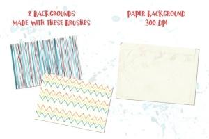 94种水彩艺术图案AI笔刷 Watercolor Vector Art Brushes插图11