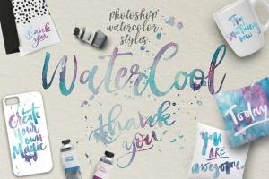 水彩艺术创作样式设计素材 WaterCool Kit. Watercolor Styles插图5