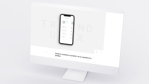网站UI界面设计效果图预览白色iMac电脑样机模板 White iMac Mockup插图9