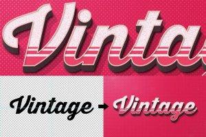 复古文本图层 样机v2 Vintage Text Effects Vol.2插图5
