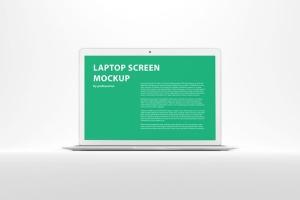 白色背景MacBook笔记本电脑演示样机 White MacBook Mockup插图2