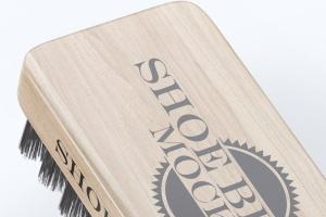 鞋刷品牌Logo设计预览样机模板 Shoe Brush Mock-Up插图6