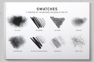 素描/水彩/油画Procreate专用笔刷 Procreate Brushes Starter Kit插图(7)
