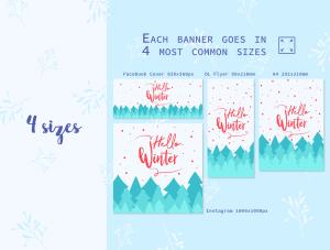 一流设计素材网下午茶:冬季广告banner设计矢量素材[Ai]插图4