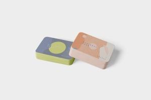 圆角企业名片设计效果图预览样机模板 Business Card Mockup Stack Round Corners插图5