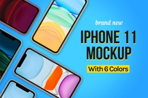 2019全新发布的iPhone 11手机样机模板 New iPhone 11 Mockup插图1