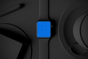 时尚深色Apple智能手表样机模板 Dark Apple watch插图10