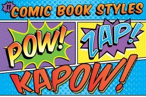 漫画书标题PS字体样式 Comic Book Text Styles插图1