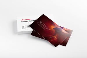 企业名片排版设计预览样机03 Business Cards Mockup 03插图1