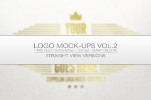 印刷烫印效果Logo样机模板v2 Logo Mock-ups Vol.2插图1