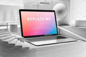 创意的Macbook展示模型Mockups打包下载[psd]插图7