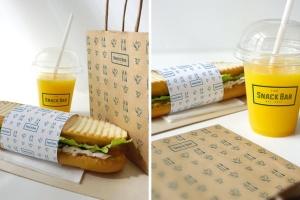 三明治咖啡馆食品品牌样机模板 Sandwich cafe Mockup插图4