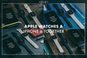 工匠场景风格iWatch样机模板 Arrows & Craft – Apple Watch Mockups插图3