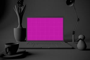 酷黑场景MacBook Pro电脑样机 Dark MacBook Pro插图10