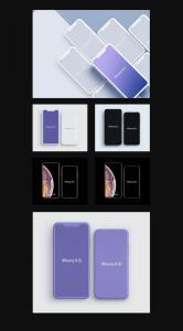 LS出品-超高品质 iPhone Xs/Xs Max 样机模板[PS & Sketch]插图4