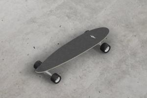 长滑板手绘图案设计样机模板 Skateboard Longboard Mockup插图14