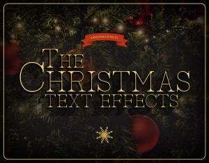 圣诞节主题海报文字样式PSD分层模板 Christmas Text Effects插图6